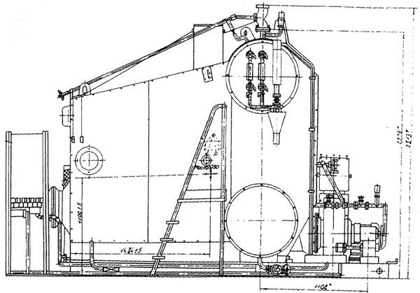 Принадлежит к типу вертикально-водотрубных двух барабанных газо-плотных котлов; *Предназначен для выработки...